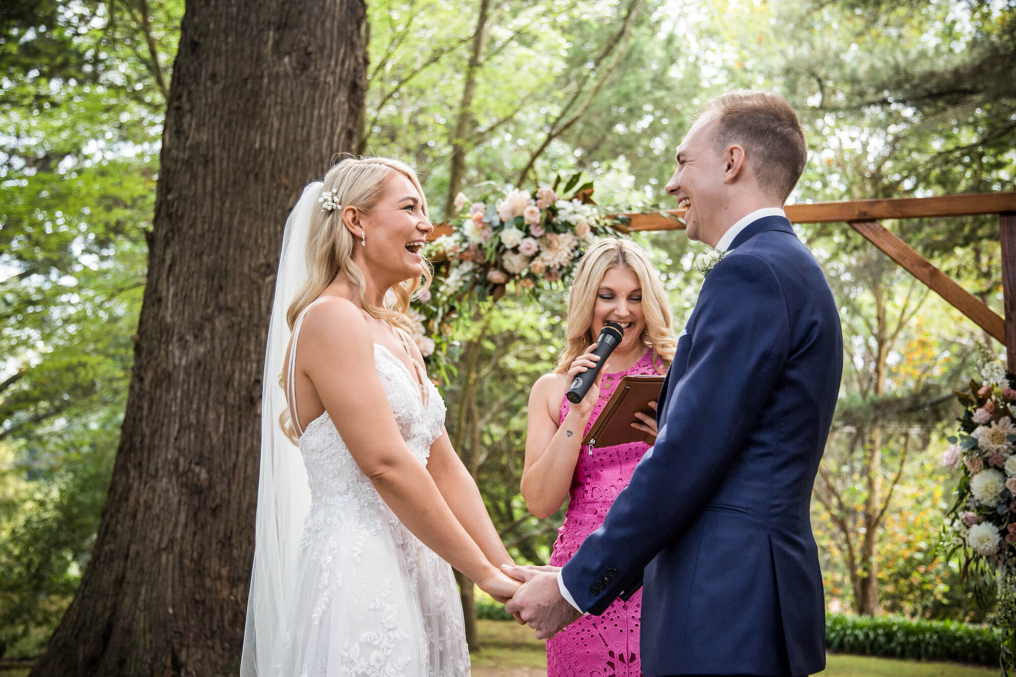 Alice Harrington celebrant officiating wedding